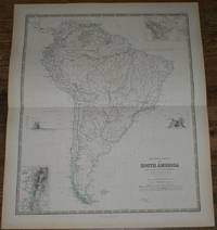 Map showing Mountain Chains of South America inc. Quito and Bolivia