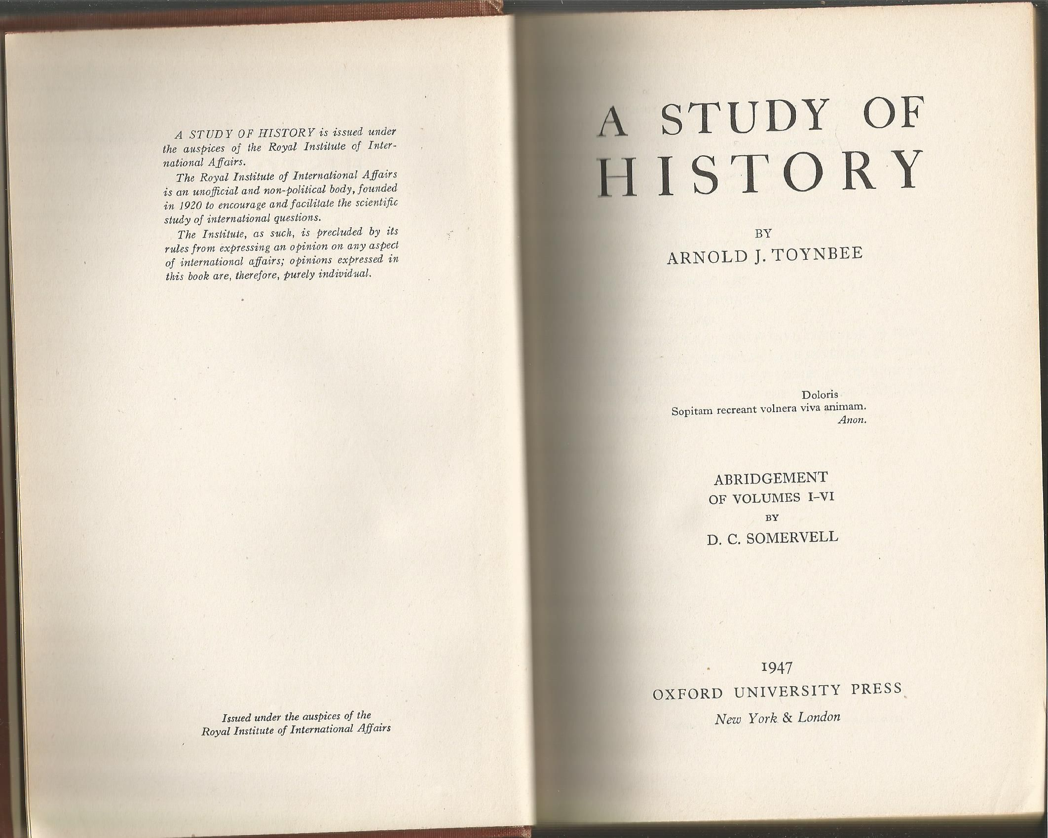 A study of history. Abridgement of ... - Internet Archive