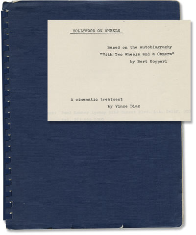 N.p.: N.p.. Treatment script for an unproduced film. With a resume laid in for actor Sharon Hawn, in...