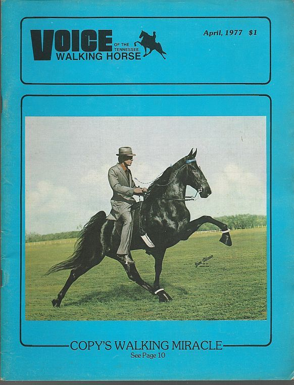 Image for VOICE OF THE TENNESSEE WALKING HORSE MAGAZINE APRIL 1977