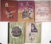 Five original prompt books, heavily annotated for the Greek Theatre in Griffith Park, 1947-1951, produced by Gene Mann. T the beginning of musical theatre at the Greek Theatre