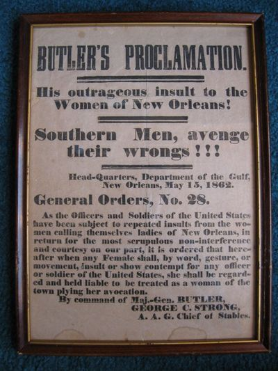 BUTLER'S PROCLAMATION. / HIS...