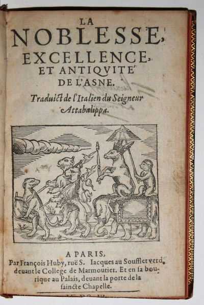 Paris: François Huby, 1606. Extremely rare first and only French edition (first Italian: 1592) of t...