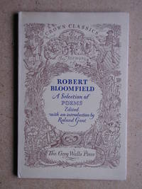 A Selection of Poems By Robert Bloomfield.