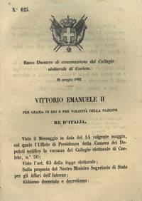 di convocazione del Collegio elettorale di Corleto.