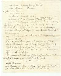 Letter Recounting Andrew Jackson's Inauguration
