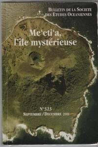Bulletin De La Societe Des Etudes Oceaniennes numero 323 septembre decembre 2011