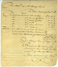 Legal Receipt for administering the estate of Mr. Henry Hart