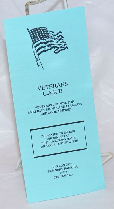 Rohnert Park: Veterans Council for American Rights and Equality (Redwood Empire), 1991. Six-panel in...
