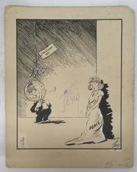 "image of Original cartoon ""Still Hoping!"" from Christmas 1951"