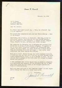 New York, 1941. Unbound. Fine. Fundraising letter for the Committee for Emergency Aid to Refugees. T...