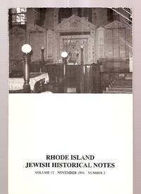 image of Rhode Island Jewish Historical Notes November 1996 Volume 12 Number 2