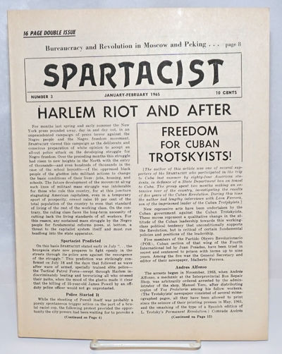 New York: Spartacist, 1965. 16p., wraps, paper toned, otherwise very good; 8.5x11 inches. Cover stor...