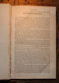On Probability; On the Study and Difficulties of Mathematics; Double Refraction & Polarisation of Light by Augustus de Morgan; Peter Mark Roget; Sir David Brewster - First Edition - 1831 - from E C Books and Biblio.com