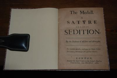 London: Jacob Tonson, 1682. First Edition, second issue. Small 4to, pp. , 20. Bound in modern thin m...