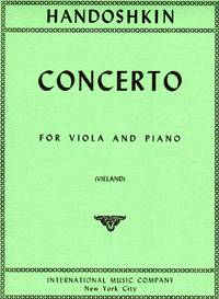 Concerto in C Major - for Viola and Piano [PIANO FULL SCORE & VIOLA PART]