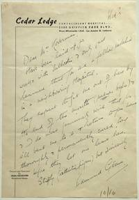 Autographed Letter Signed about his health