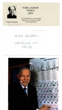 image of Autographs of ten Nobel laureates in chemistry