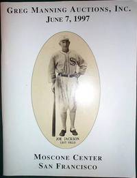 image of Gregg Manning Auctions Inc. Baseball Card and Memorabilia Auction Catalog