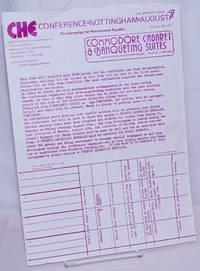 image of CHE Conference, Nottingham, August '77 [handbill] The Campaign for Homosexual Equality