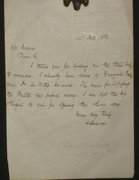 image of (Bookselling) Autographed Letter Signed to Mr. William Gowans, October 15, 1869