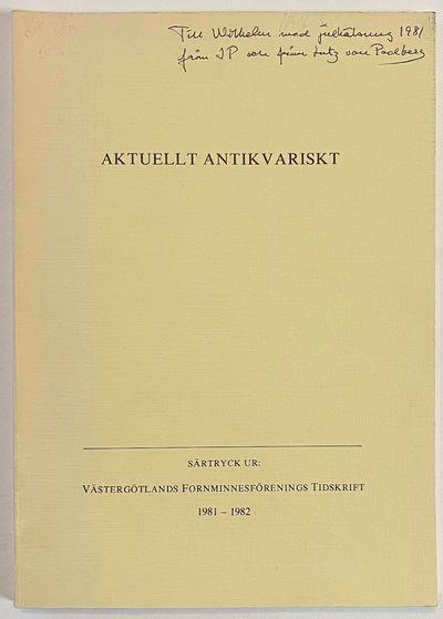 Skara: Skaraborgs länsmuseum, 1981. pp. 239-348, slender paperback, gift inscription on cover, ot...