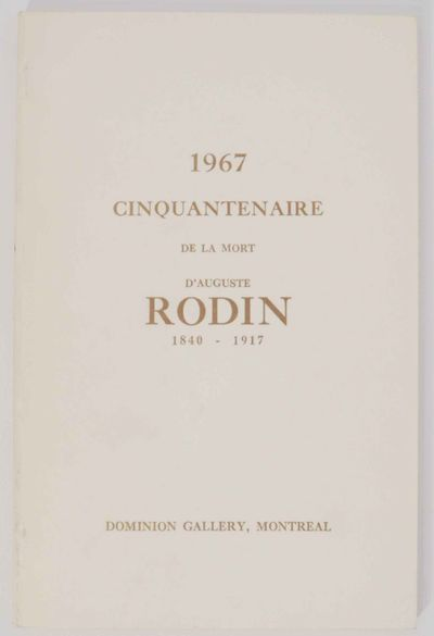 Montreal: Dominion Gallery, 1967. First edition. Softcover. Text in French. Foreward by Cecile Golds...