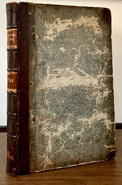 London: J. Hughs, 1748. First edition. Hardcover. Quarter period half russia and marbled boards. Ver...
