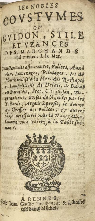 Les nobles coustumes ou Guidon, stile...