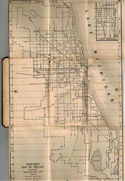 Chicago: Leonard Publishing Co., 1929. RARE First Edition, 1929, with fold-out map. Very Good Plus, ...
