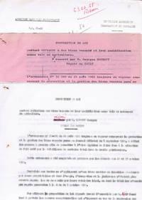 Proposition de loi portant définition des biens vacants et leur qualification comme tels, notamment en agriculture, déposée par M. Gaumont, Georges (P.L. 63-02)