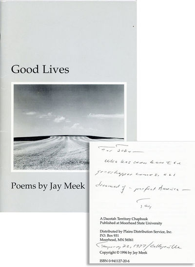 Moorhead, MN: Moorhead State University, 1996. First Edition. Octavo (21cm.); publisher's grey photo...