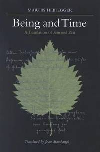 Being and Time : A Translation of Sein und Zeit by Martin Heidegger - Hardcover - 1996 - from ThriftBooks (SKU: G0791426777I3N10)
