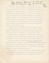 Typed Manuscript Signed