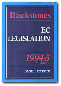 Blackstone's EC Legislation : 1994-95