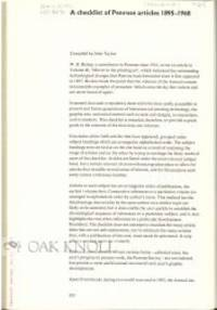 1969. later pamphlet binder. Penrose Annual. 4to. later pamphlet binder. pp.2534-292. Removed from t...