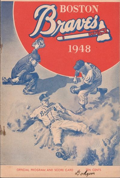 Boston: Boston Braves, 1948. Paper. Very good. Approx. 10
