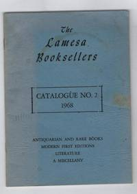 The Lamesa Booksellers Catalogue Number 2, 1968