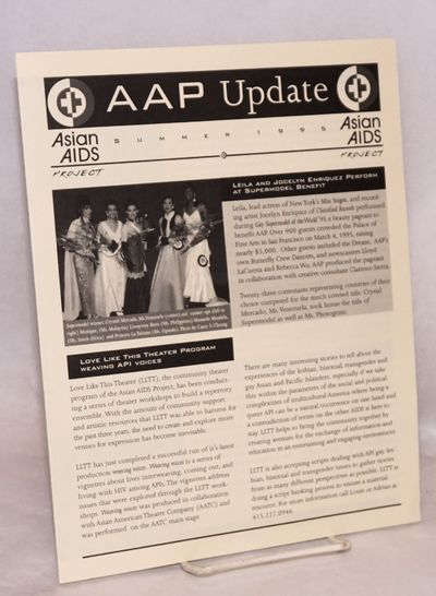 San Francisco: Asian AIDS Project, 1995. Four panel newsletter, 8.5x11 inches, articles, announcemen...