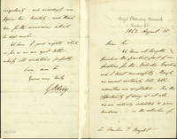 Autograph letter signed to Charles Tilston Bright