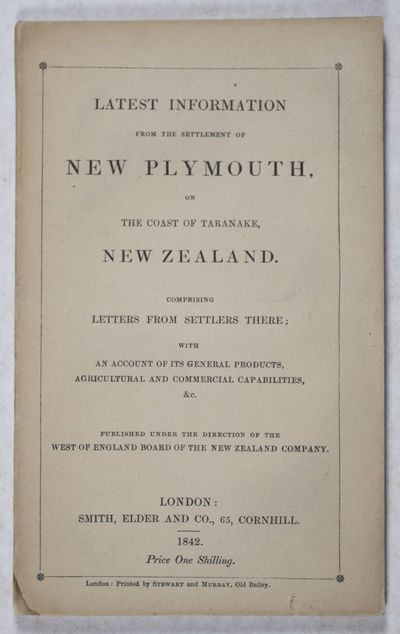 London: Smith, Elder and Co, 1842. First edition. Softcover. vg- to near fine. Octavo. 57pp. (1). + ...