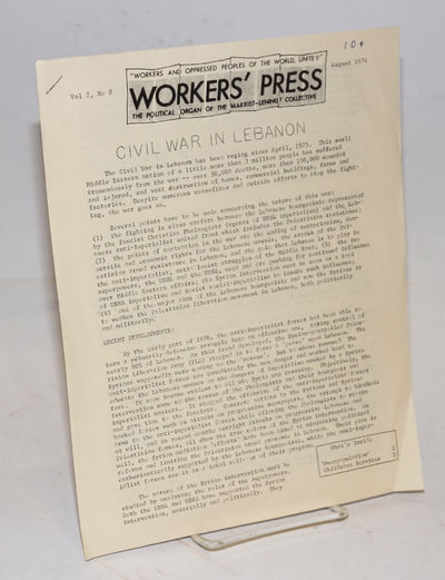 San Francisco, CA: Marxist-Leninist Collective, 1976. 4p., 8.5x11 inch sheets stapled together at up...