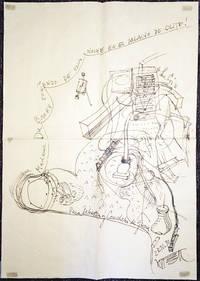 Fluxus Artist Wolf Vostell Large Drawing