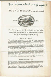 image of THE TRUTH ABOUT WHOLEGRAIN MEAL 1791-1941.