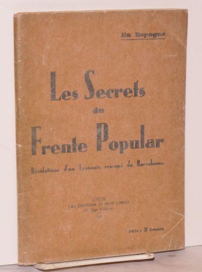 Lyon: Les Éditions de Janny Lorge, 1936. 70p., wraps, minor creasing, paper slightly browned. Text ...