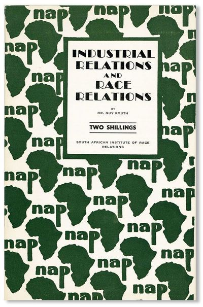 : South African Institute of Race Relations, n.d., ca. 1953. First Edition. Octavo (21.5cm.); origin...