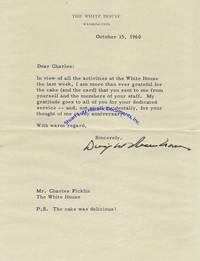 President Eisenhower Thanks A White House Staffer For His Birthday Cake