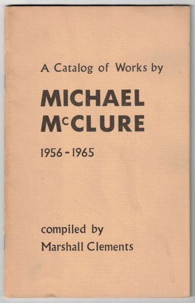 New York: The Phoenix Book Shop, Inc, 1965. First edition. Paperback. Good. 36pp. Slim octavo Saddle...