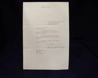 Signed Letter from Herbert Hoover