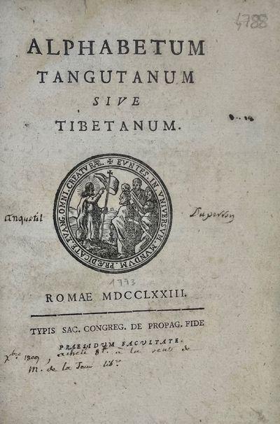 Alphabetum tangutanum sive tibetanum.